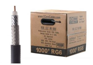 ECore RG6 Dual Shield Coax Cable - CCS