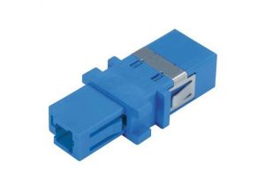 L-com Simplex LC/SC Singlemode Fiber Optic Adapter - Plastic Body