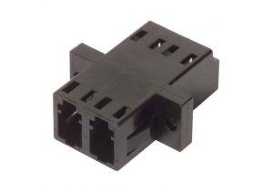 Fiber Coupler LC/LC - Duplex Ceramic Sleeve - Low Profile - w/Flange