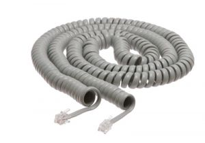 1.5 Inch Lead Handset Cord - 25 FT - Gray