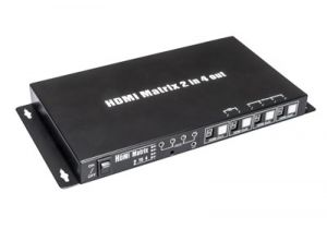 2 in/4 out HDMI Matrix Switch with IR Extension, 3D Ready