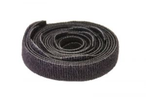 Hook and Loop Cable Ties - 7 Inch x 3/4 Inch - Black - 10 Per Pack