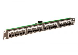 ICC Telco Male VOIP Patch Panel - RJ45 - 8P2C - 1 RU - 24 Port