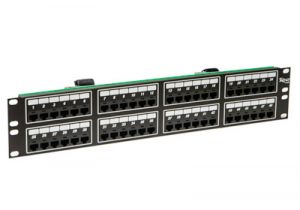 ICC Telco Male VOIP Patch Panel - RJ45 - 8P4C - 2 RU - 48 Port
