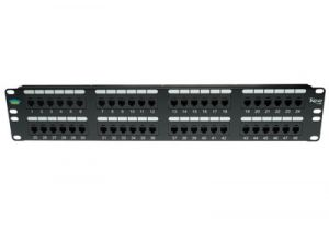 ICC USOC Patch Panel - RJ12 - 6P6C - 2 RU - 48 Port
