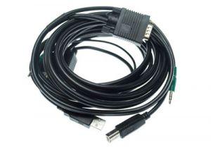 KVM Cable - VGA Male/Male, USB A Male/B Male, 3.5mm Male/Male