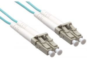 LC/LC 50/125 Multimode 40/100GB Duplex Armored Fiber Patch Cable - OM4