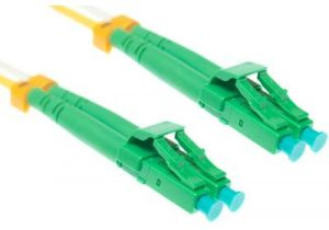 LC-APC to LC-APC 9/125 Singlemode Duplex Fiber Patch Cable - OS2