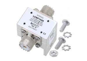 L-com UHF F/F In/Out RF Surge Protector 1.5MHz - 700MHz DC Block 2kW 50kA Blocking Cap and Gas Tube