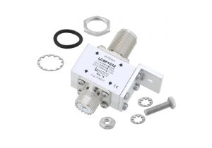 L-com UHF F/F Bulkhead RF Surge Protector 1.5MHz - 700MHz DC Block 2kW 50kA Blocking Cap and Gas Tube
