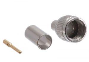 Mini UHF Male Crimp Connector - RG59 & RG62