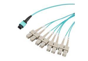L-com MPO w/Pins to SC Fan-out - OM4 50/125 - LSZH