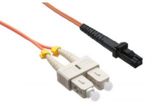 MTRJ/SC 62.5/125 Multimode Duplex Fiber Patch Cable - OM1 - 1 Meter