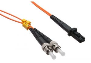 MTRJ/ST 62.5/125 Multimode Duplex Fiber Patch Cable - OM1 - 15 Meter