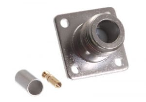 N Female Chassis Mount Connector - RG58