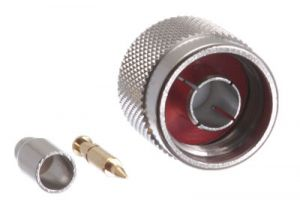 N Male Crimp Connector - RG174, RG188, RG316 & LMR-100