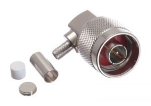 N Right Angle Male Crimp Connector - RG58 & LMR-195