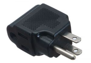 NEMA 5-15R to NEMA 5-15P Right-angle Power Adapter