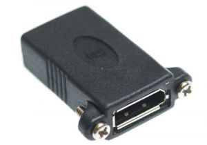 Panel Mount DisplayPort Female to DisplayPort Female Coupler