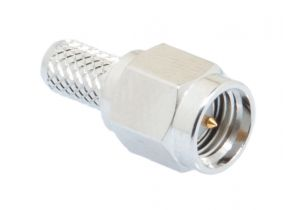 Pasternack PE4215 - SMA Male Connector Crimp/Solder Attachment for RG58, RG303, RG141, PE-C195, PE-P195, LMR-195, 0.195 inch