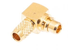 Pasternack PE4898 - MMCX Right Angle Male Crimp/Solder Connector for RG174, RG316, RG188, LMR-100