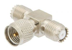 Pasternack PE9065 - Mini-UHF Tee Adapter Female-Male-Female
