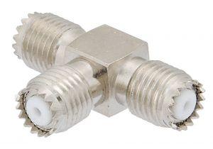 Pasternack PE9066 - Mini-UHF Female Tee Body Adapter