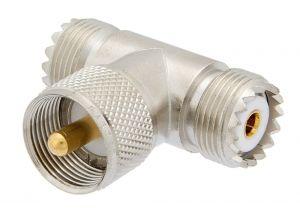Pasternack PE9095 - UHF Tee Adapter Female-Male-Female
