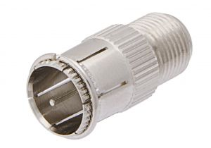 Pasternack PE9160- Push-On 75 Ohm F Male to 75 Ohm F Female Adapter