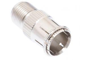 Pasternack PE9160- Push-On 75 Ohm F Male to 75 Ohm F Female Adapter