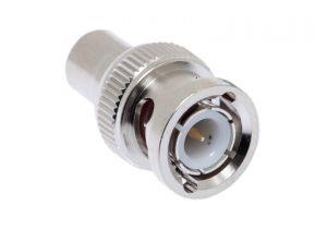 Pasternack PE9171- 50 Ohm BNC Male to 75 Ohm RCA Jack Push-On Adapter