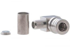 QMA Right Angle Male Crimp Connector - Micro 8/U (RG8X) & LMR-240