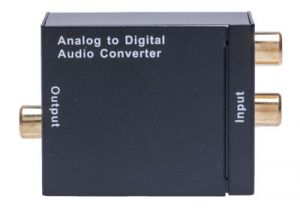 RCA Stereo Audio to Digital Coax and Optical Audio Converter