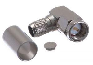 SMA Right Angle Male Crimp Connector - LMR-240