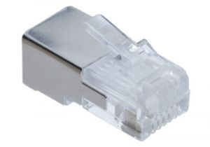 RJ12 Shielded Modular Connector - 6P6C - Round Cable - 10 Pack