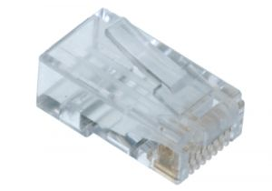 RJ45 Cat6 Connector without Guide - 8P8C - Solid & Stranded Cable - 10 Pack