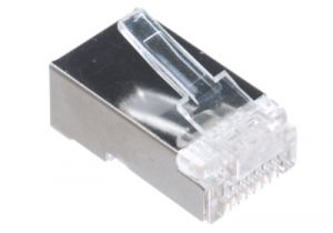 RJ45 Cat6 Shielded Connector - 8P8C - Solid & Stranded Cable
