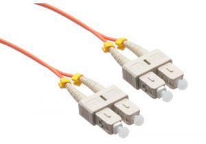 SC/SC 50/125 Multimode Duplex Plenum Fiber Patch Cable - OM2
