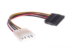 Molex 4-Pin to SATA Power Adapter Cable - 6 Inch