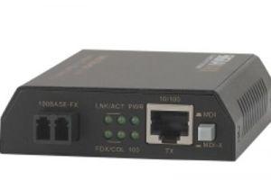 10/100 Mbps Multimode Fiber Optic Ethernet Media Converter - LC - 2 Km