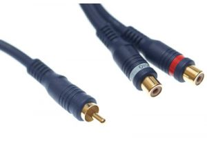 Sonicwave RCA Male to Dual RCA Female Audio Adapter Cable - 6 IN