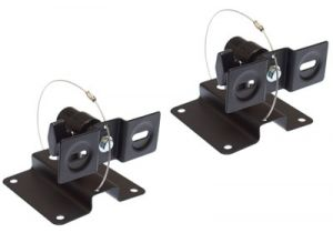 Speaker Wall/Ceiling Mount Bracket - Metal - 1 Pair