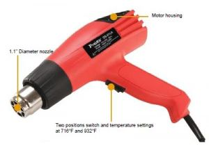 Dual Temperature Heat Gun with Accessories - 1500 Watt