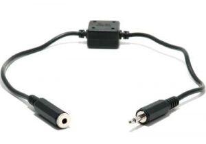 Audio Isolation Transformer - 3.5mm Mono Male to 3.5mm Mono Female - 11 IN