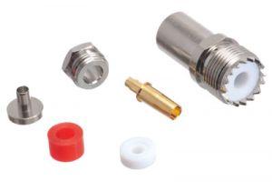 UHF Female Clamp/Solder Connector - RG58, RG141 & LMR-195