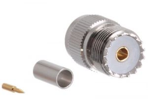 UHF Female Crimp Connector - RG58, RG141 & LMR-195