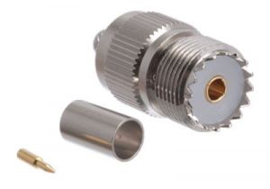 UHF Female Crimp Connector - RG8/X & LMR-240