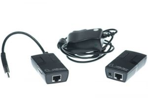 USB 2.0 over Cat5 Extender Balun - 480 Mbps - 150 Ft