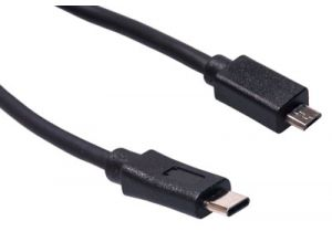 USB 2.0 Type C Male to USB 2.0 Micro Male Cable - 3 Foot