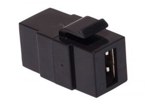 USB 2.0 Type A Feed-Thru Keystone Coupler